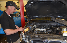 Experienced mechanics diagnosing and fixing all problems
